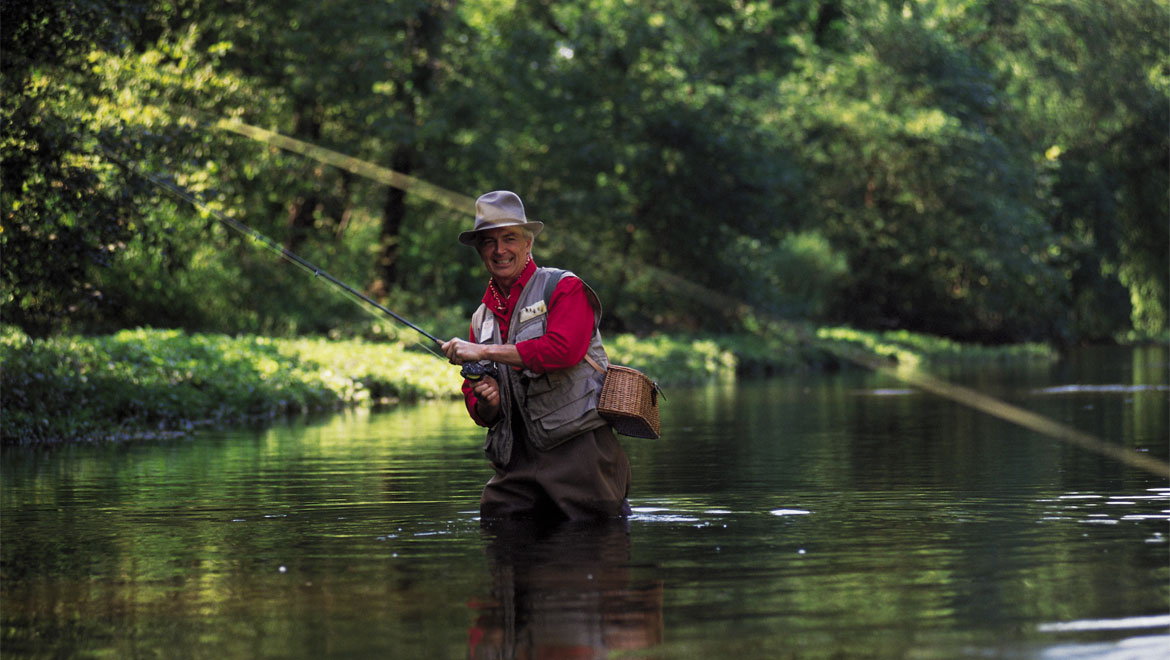 Fly fishing in Bedford Springs