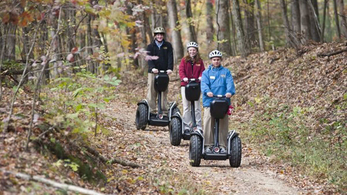 Segway trail in Bedford Springs