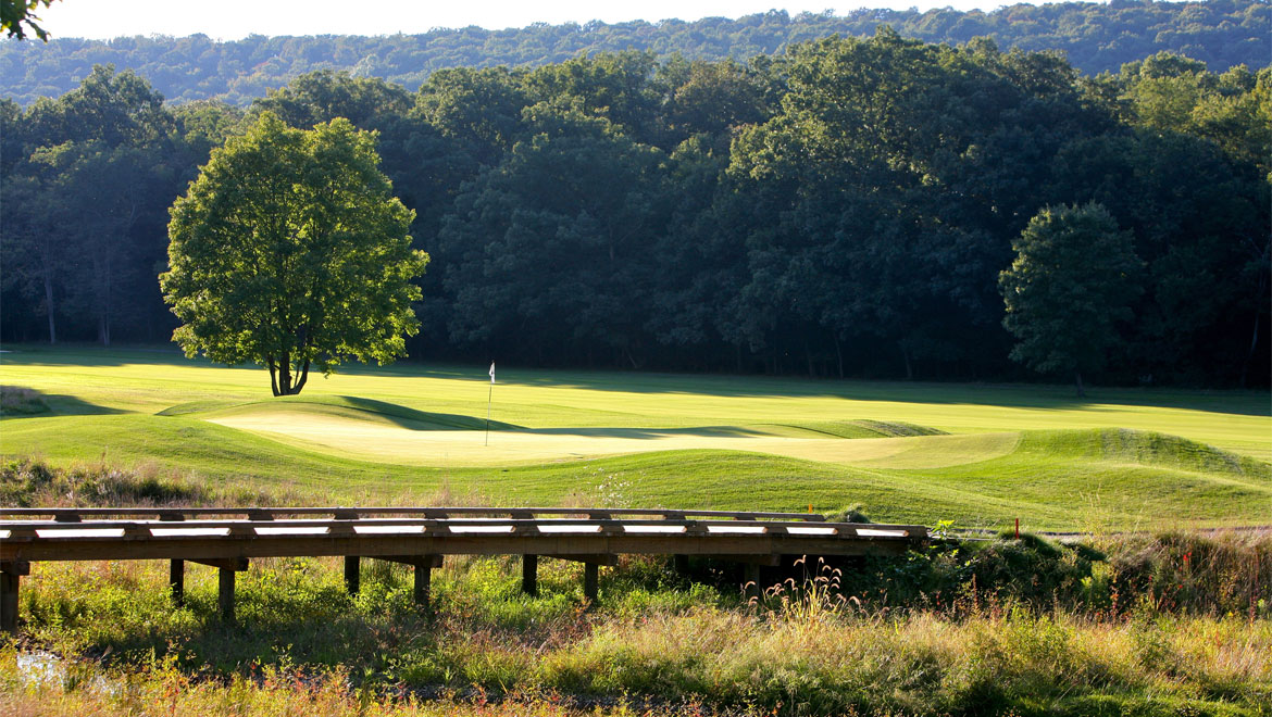 Bedford Springs Resort golf course bridge