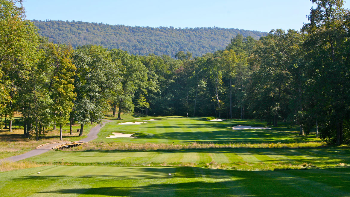 Golf course in Bedford Springs