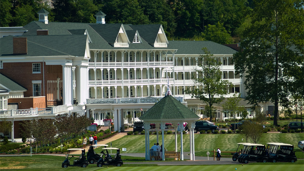 Golf course view at Bedford Springs Resort