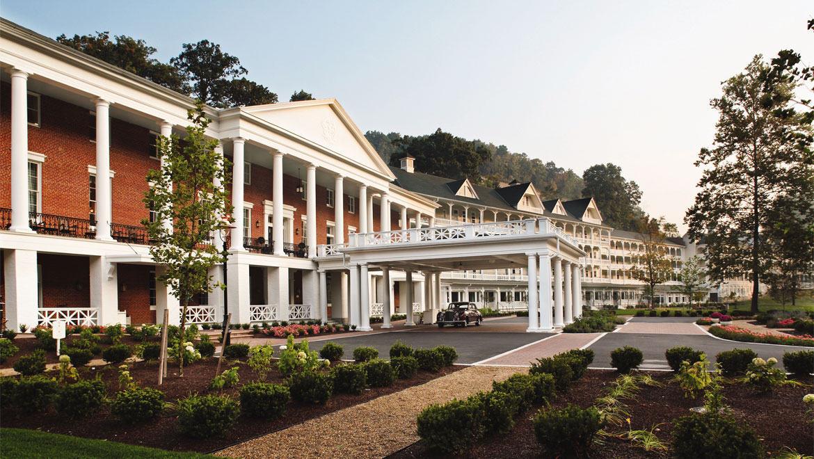 Bedford Springs Resort exterior during the day
