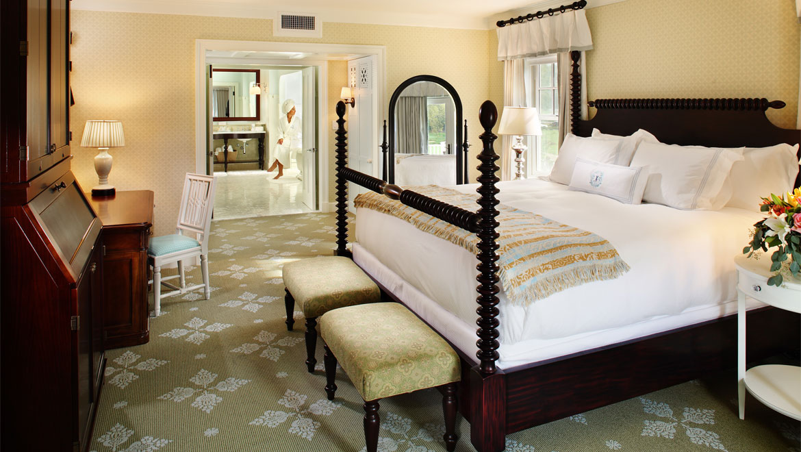 Bedford Springs Resort suite bed