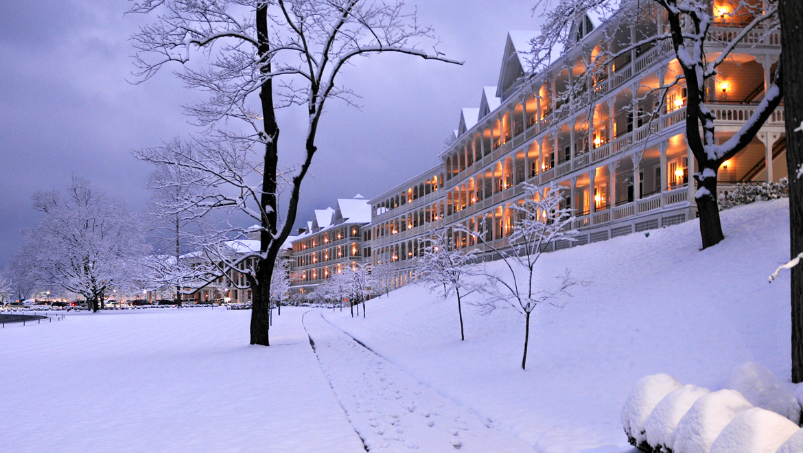 Omni Bedford Springs in winter