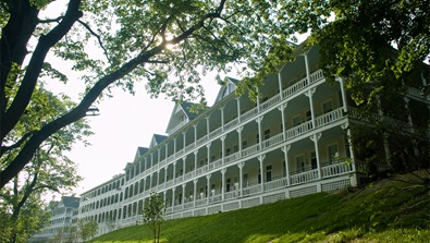 Rear exterior view of Bedford Springs Resort