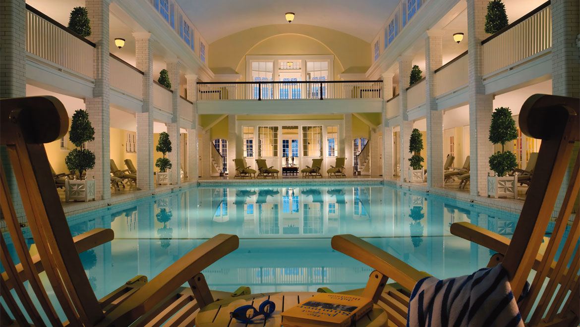 Indoor pool at Bedford Springs