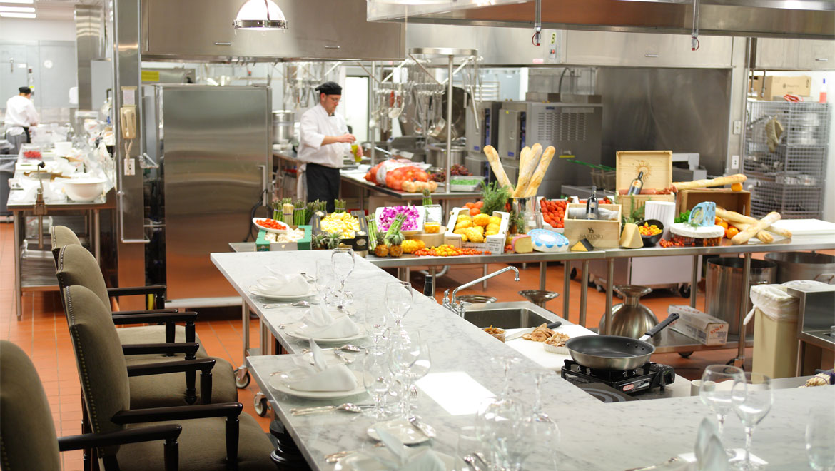 Chefs table at 1796 Restaurant
