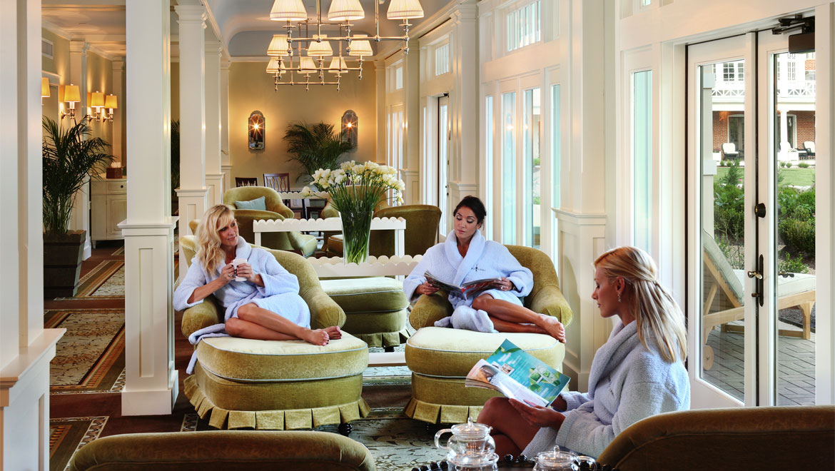 Spa lounge at Bedford Springs