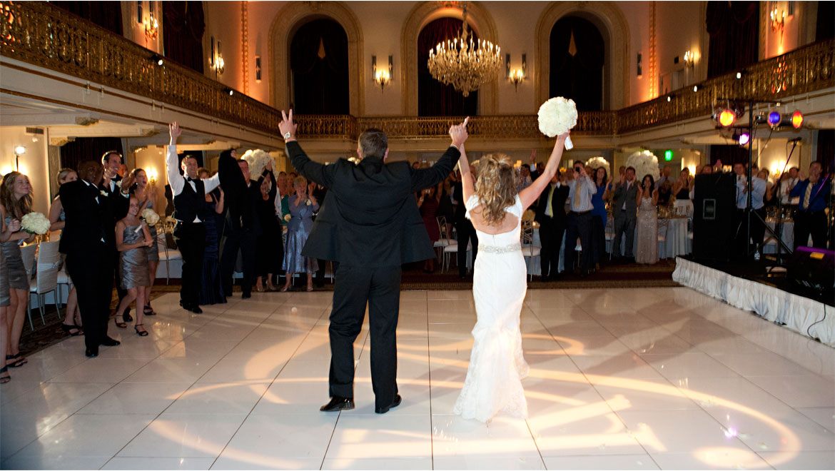 Bride and groom on the dance floor in Pittsburgh