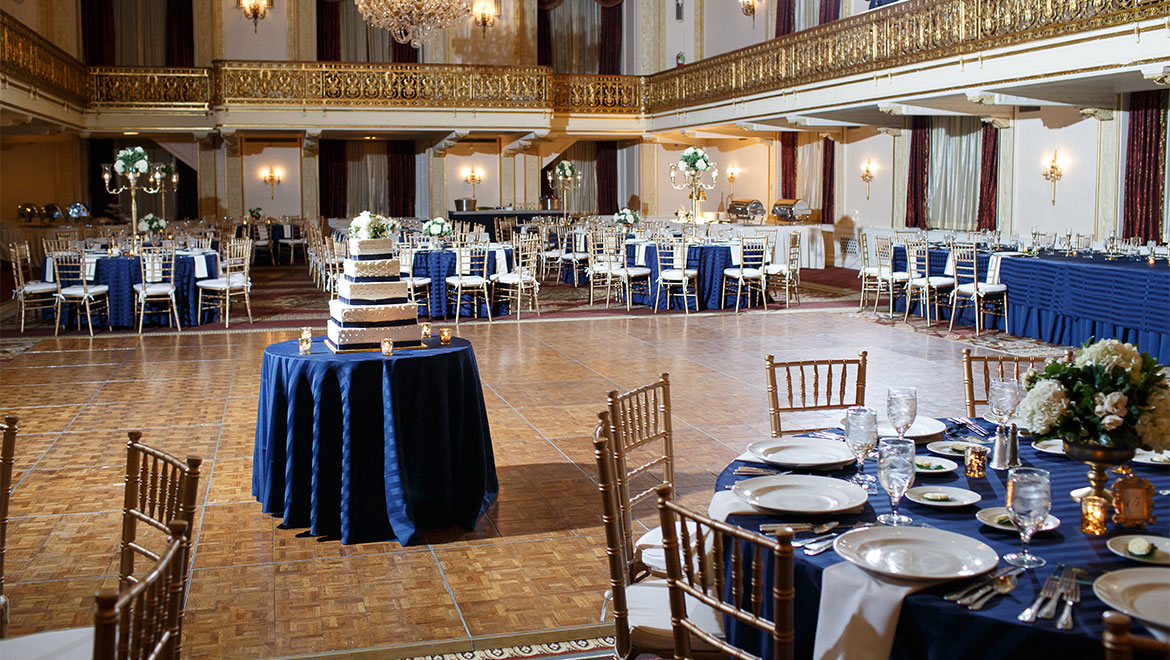 Wedding reception in Grand Ballroom