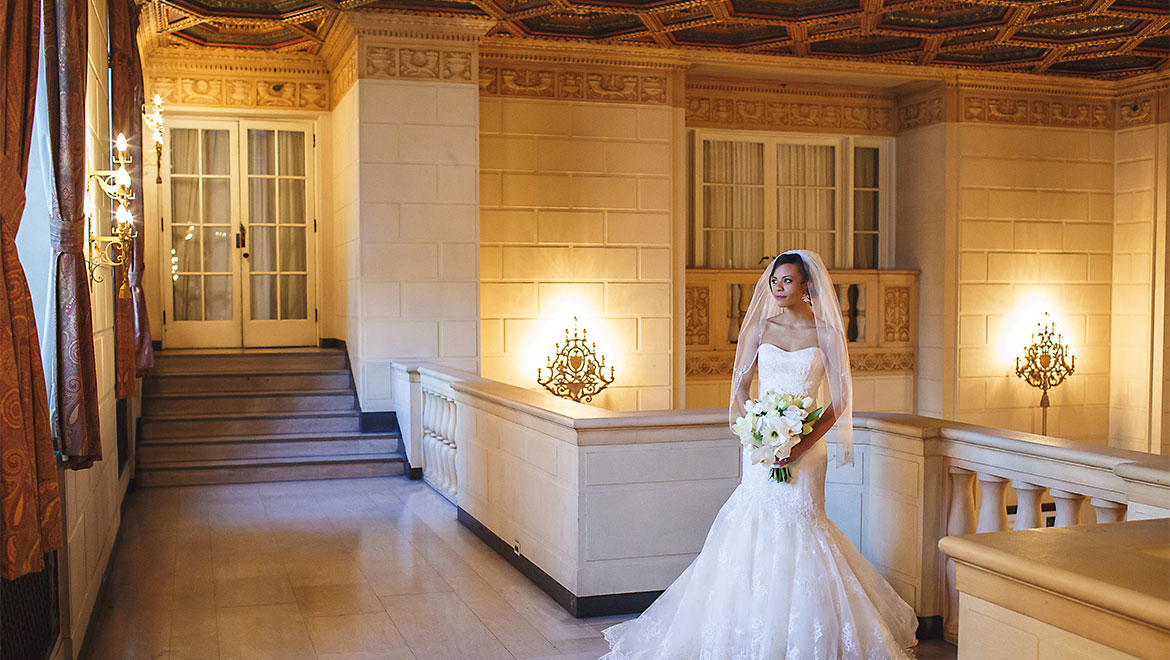 Bride at Omni William Penn Hotel