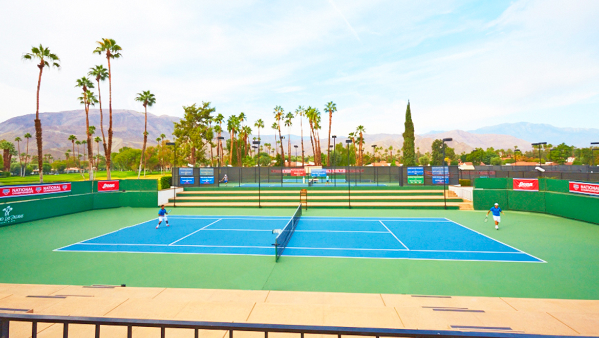 Tennis courts at Omni Rancho Las Palmas