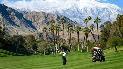 Omni Rancho golf course with view of mountains
