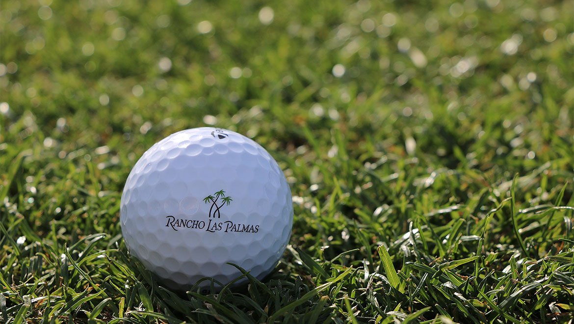Omni Rancho Las Palmas logo golf ball