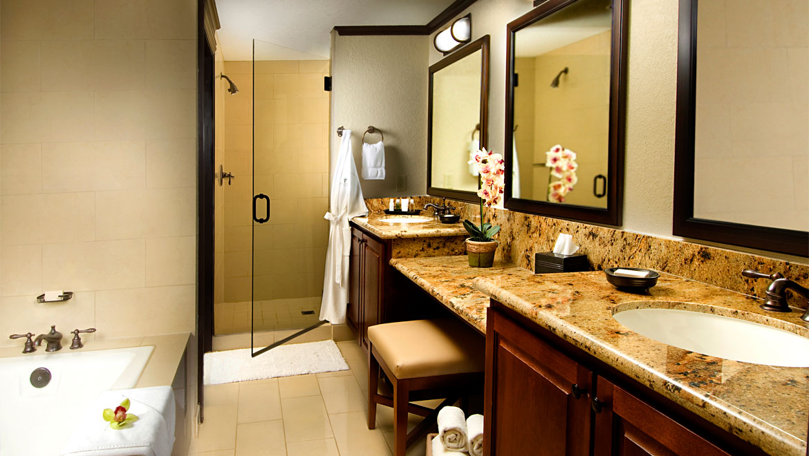 Omni Rancho Resort guest room bathroom