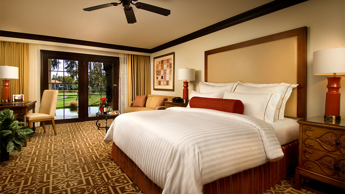 Omni Rancho guest room king bed