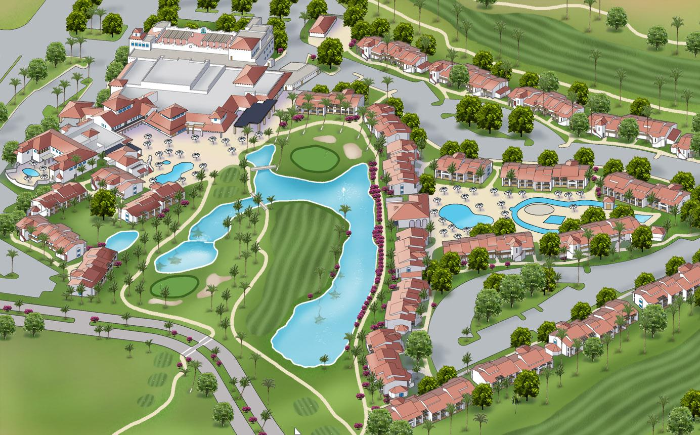 Resort Map on Country Club Home Floor Plans
