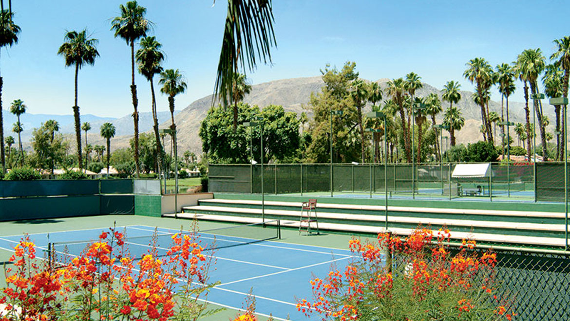 Tennis courts at Rancho Las Palmas