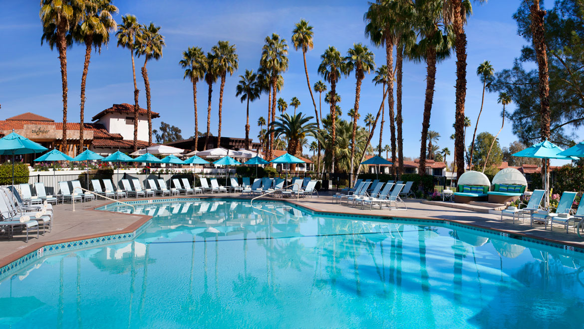Azure pool at Omni Rancho Las Palmas
