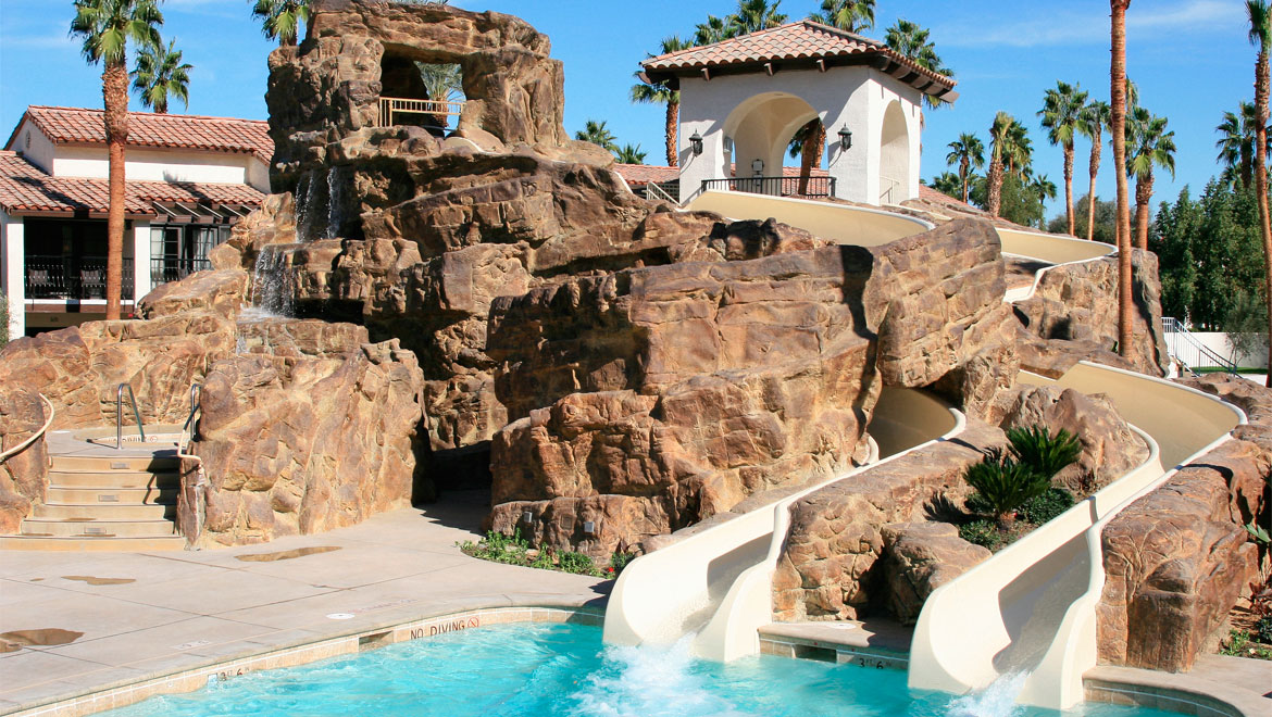 Omni Rancho water slides