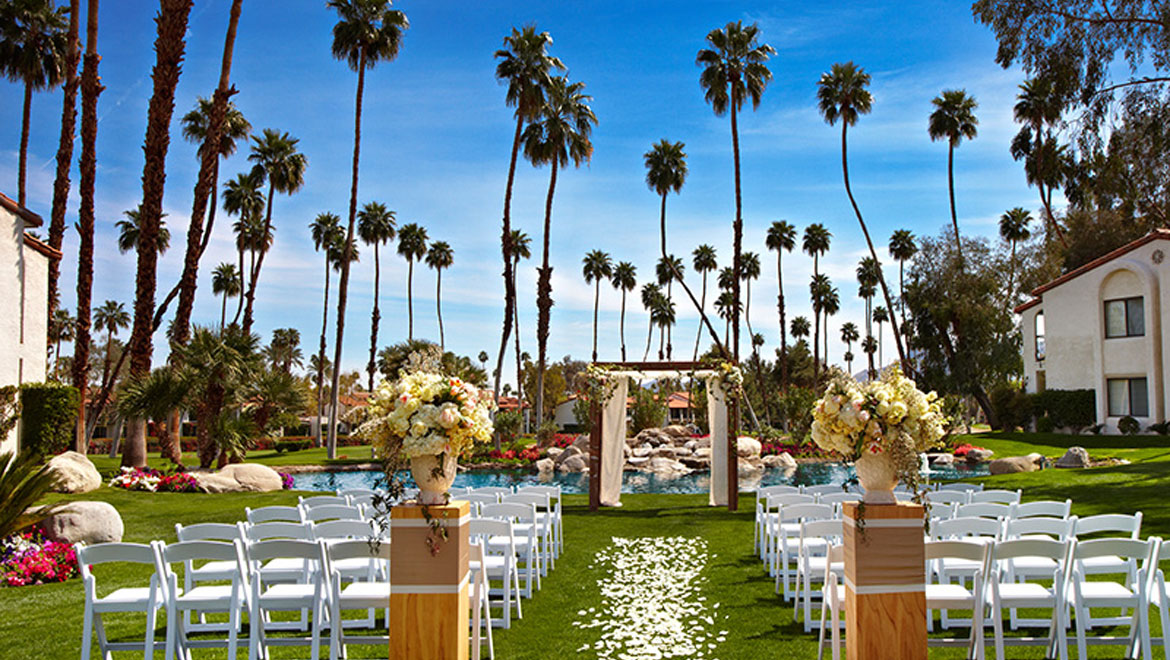 Wedding venue on the lawn at Omni Rancho