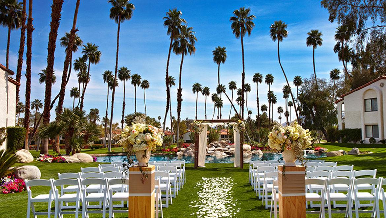 Wedding Venues In Palm Springs Omni Rancho Las Palmas