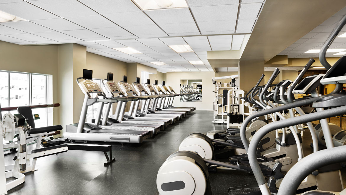 State-of-the-art fitness equipment available to all guests