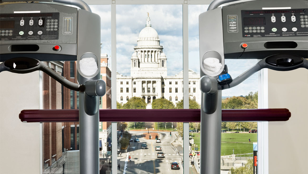 Providence fitness center with view
