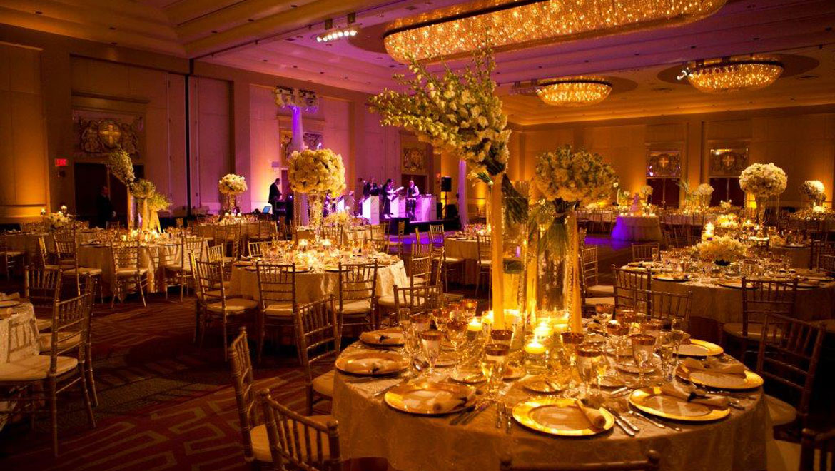 Wedding tables at Providence hotel