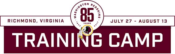 Washington Redskins Training Camp in Richmond, Virginia on July 27 - August 13