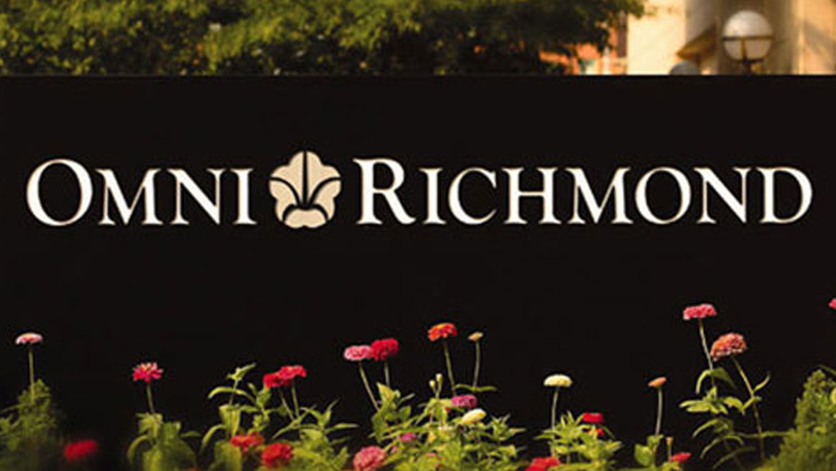 Richmond hotel front signage