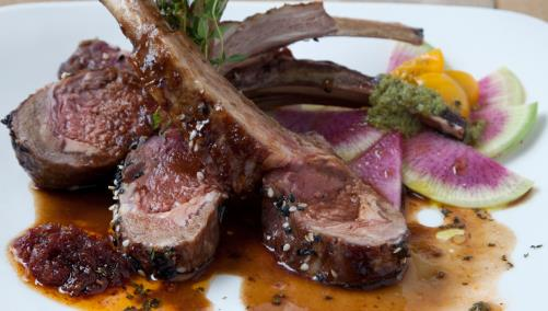 Lamb entree from Richmond Hotel restaurant