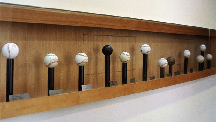 San Diego Hotel baseballs with signatures