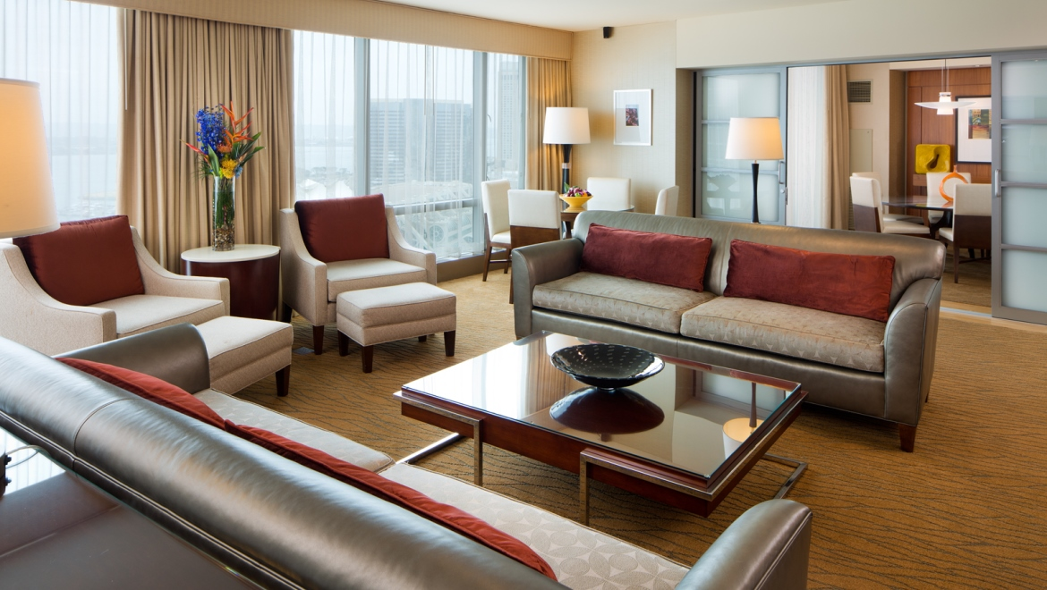 Omni San Diego Jimmy Carter Suite Living Area