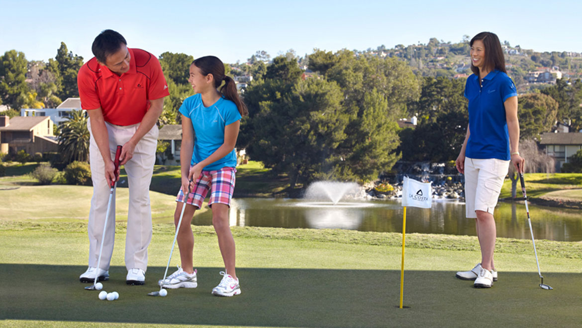 La Costa golf course with a family playing