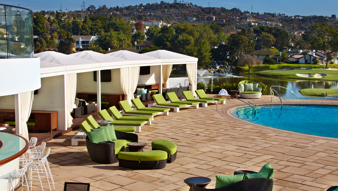 Swimming pools san diego omni la costa resort spa for Swimming pool cabanas