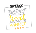San Diego Magazine Readers' Choice Travel Awards Winner 2018