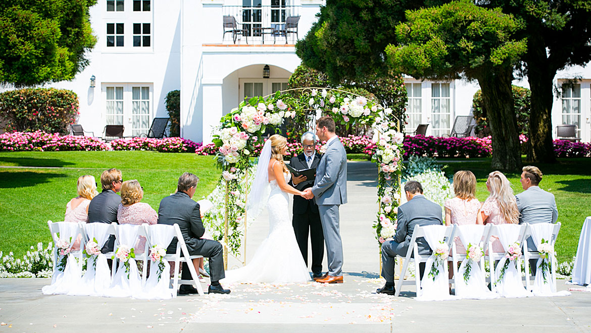 Small Ceremony Wedding Courtyard