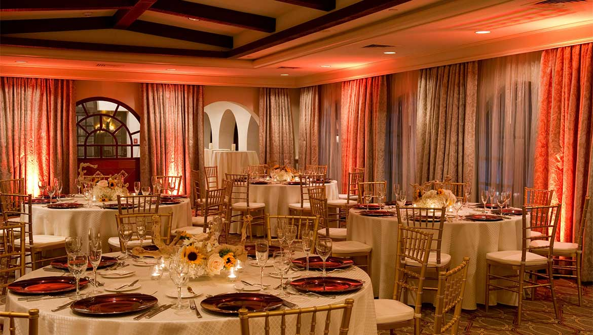 El Capistrano wedding reception