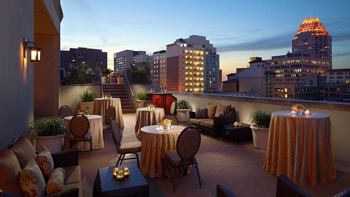 San antonio wedding venues mokara hotel spa rooftop terrace junglespirit Image collections