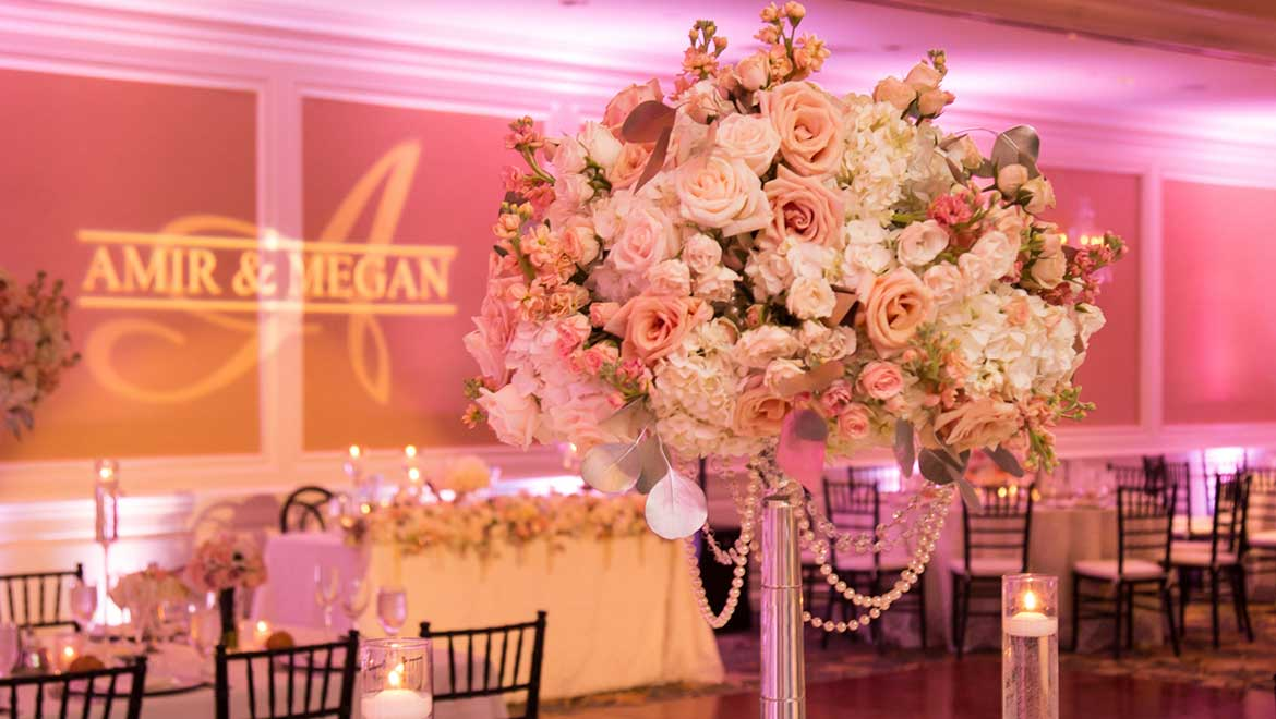 Floral Arrangement at Real Wedding