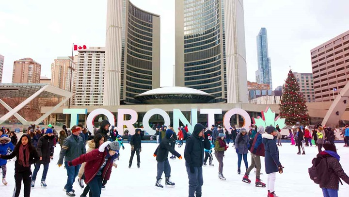 Ice rink in Downtown Toronto