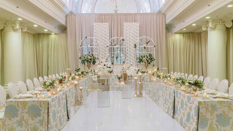 Vanity Fair Table Setup Wedding Reception Tables King Edward Hotel Toronto