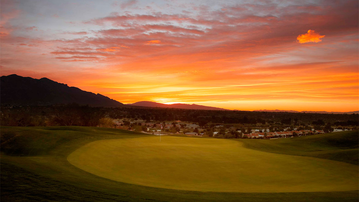 Sunset at Tuscon golf course
