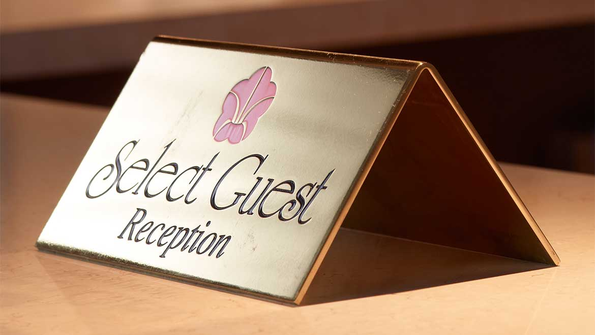 Select Guest reception desk
