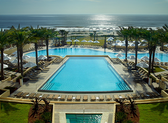 Omni Amelia Island Plantation pool overview