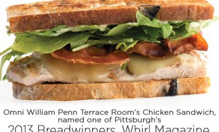 2013 Breadwinners: Omni William Penn Chicken Sandwich