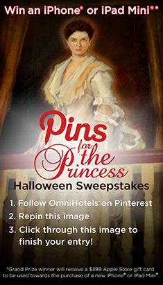 Pins for the Princess Halloween Sweepstakes @OmniHotels #Halloween #Sweepstakes http://ow.ly/q3Yhw