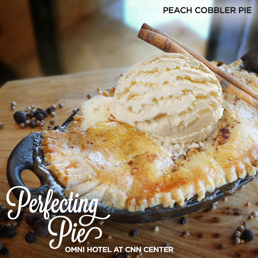 Perfecting Pie - Peach Cobbler Pie