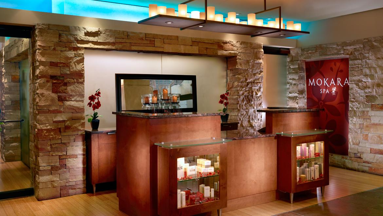Entrance to Mokara Spa at Omni Interlocken Hotel